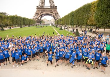Cycle London to Paris finale group shot