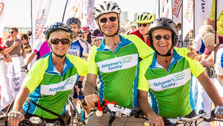 Trio of London to Brighton cycle finishers